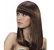 Womens Ladies Medium Wavy Hair Full Wigs Cosplay Bobo Style Bangs Wig  4 Colors to Choose