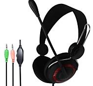 Fones de ouvido estéreo com microfone e controle de volume para PC jogos multi-player on-line com pacote de varejo