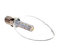 2W E14 Luzes de LED em Vela C35 17 SMD 3014 140-160 lm Branco Quente Decorativa AC 220-240 V