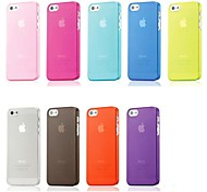 Transparent Matte Clear Hard PC Cover Case for iPhone 5/5S (Assorted Colors)