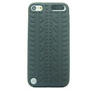 Patrón de columnas vertebrales de silicona caso de goma suave para el iPod touch 5