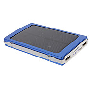 10000mAh Multi-output Solar External Battery for Mobile Device(Blue)