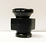 3-in-one 0.67X Wide Angle Lens 180 Degree Fisheye and Macro Lens Set for iPhone 4/4S