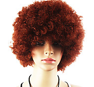 Black Afro Wig Fans Bulkness Cosplay Christmas Halloween Wig Brown Wig 1pc/lot