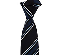 Ropa Masculina Italia Estilo Azul marino clásico Negocios Ocio Rayado microfibra corbata Carrera Ropa Tie