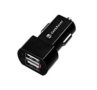 GeekRover High Quality Universal Dual USB Car Charger for iPad and Others (5V 1A/2.1A)