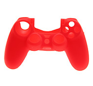 2 PCS Mushroom Caps and 2 PCS Red Thumb Stick Grips and 1 PC Silicone Case(Red)