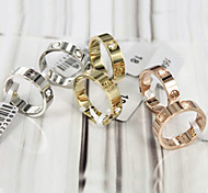 lureme®classic unisex Gold Edelstahlband Ringe (Gold, Silber) (1 Stück)