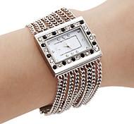 Women's PC Movement Silver Band White Dial Bracelet Watch with Czechic Diamond Decoration