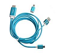 Micro USB a HDMI 1080P MHL Cable para Samsung Galaxy S4 / S3 / 3 Nota / Note 2