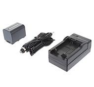 ismartdigi-Sony NP-FH70 de 2200mAh, 7.2V batería de la cámara + cargador de coche para SONY DC-R-SR62 SR300 DC-R-SX60E DVD608E