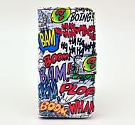 Haha Boom Cartoon modèle en cuir pleine fleur de carrosserie Hard Case avec porte-cartes pour l'iPhone 5C