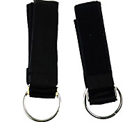Latex Fitness Exercise Stretch Pull Rope Large Cover- Black
