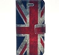 Retro UK Flag Pattern PU Leather Full Body Case with Card Slot and Stand for iPhone 5/5S