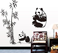 Doudouwo® Animals The Panda And Bamboo Wall Stickers