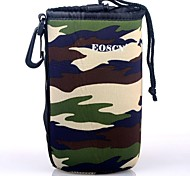 EOSCN Camouflage Pattern Protective Neoprene Bag for DSLR Camera Lens - Green (Size L)