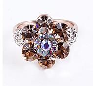 (1 Pc) Europeu Plum Retro Unisex diamante como anéis de imagem (Ouro Preto)