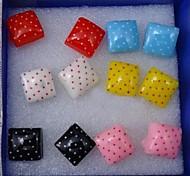 z&x® multicolor Acrylglas Quadratohrstecker in einer Box