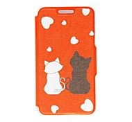 For Nokia Case Card Holder / Flip Case Full Body Case Cat Hard PU Leather Nokia Nokia Lumia 630 / Nokia Lumia 625