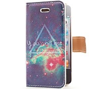 Endless Galaxy Style Flip Leather Case with Stand and Card Slot for iPhone 4/4S