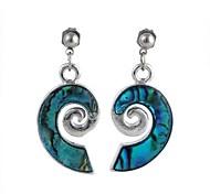 Mujeres Patrón Ear Abalone Shell Earring 1pair
