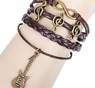 Z&X®  Happy Note Guitar Woven Bracelet
