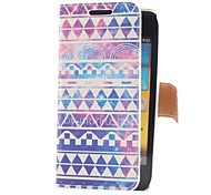 Vintage Colorful Stripe Style Leather Case with Card Slot and Stand for Samsung Galaxy S Advance i9070