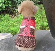 Liebenswert Dot Print-Kleid-Mantel mit Stil für Haustiere Hunde (verschiedene Farben, Größen)