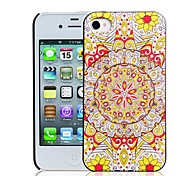 3D Relievo Colorful Sunflower Pattern PC Hard Case for iPhone 4/4S
