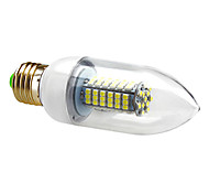 E26/E27 5 W 102 SMD 3528 550 LM Natural White C Candle Bulbs AC 220-240 V