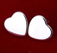 Earring Heart Stud Earrings Jewelry Party / Daily / Casual Alloy Silver