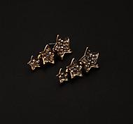 Rhinestone Stars Drop Earrings