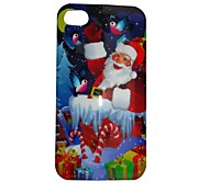 Santa Claus Jr Pattern ABS Back Case for iPhone4/4S