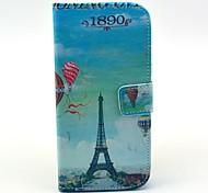 Balão Torre Eiffel Padrão PU caso capa de couro com suporte para LG Google Nexus 5 E980
