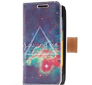 Sky You and Me Style Leather Case with Card Slot and Stand for Samsung Galaxy S Advance i9070