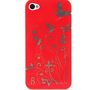Di plastica dura del modello di farfalla Back Cover per iPhone 4/4S (colori assortiti)
