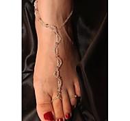 Shixin® Vintage Crystal Handmade Fashion Barefoot Sandal(1 Pc)