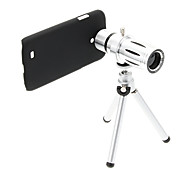 Zoom 12X Telephoto Metal Cellphone Lens with Tripod for Samsung S4