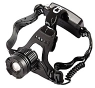 800 Lumen CREE XM-L XML T6 LED Rechargeable Headlight Zoomable Headlamp Zoom in/out