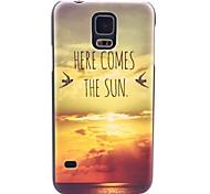 Für Samsung Galaxy Hülle Muster Hülle Rückseitenabdeckung Hülle Landschaft PC Samsung S5