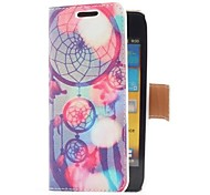 Dream Catcher Style Leather Case with Card Slot and Stand for Samsung Galaxy S Advance i9070