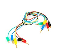 5-Color 2.0mm Banana Plug DuPont Connection Wire Cable (30cm / 5 PCS)