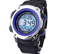 Time100 Men's Digital Dial PU Band  Japaness Quartz  LED Multifunction Waterproof Sport Electronic Watch