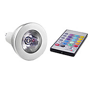 E14/GU10 3 W 1 High Power LED 150 LM Color-Changing/RGB MR16 Remote-Controlled Spot Lights AC 85-265 V