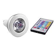 Lâmpadas de Foco de LED Controle Remoto GU10 3W 150 LM K RGB 1 LED de Alta Potência AC 85-265 V MR16