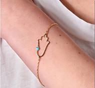 Shixin® European Hand 18cm Women's Gold Alloy Chain & Link Bracelet(1 Pc)