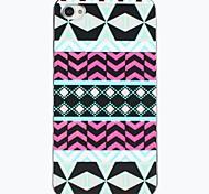 Farbige geometrische Figur Zeichnung Muster Black Frame PC Hard Case für iPhone 4/4S