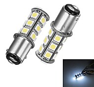 Merdia 1157 5W 40lm 18x5050SMD LED White Light for Car Brake / Steering Light (24V / 2PCS)