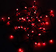 Impermeabilice los 5M 3W Rojo 50-LED Luz de tira del LED (110V)