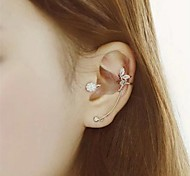 Fashion Angle (Round) Assorted Color Alloy Clip Earrings (1 Pc)
